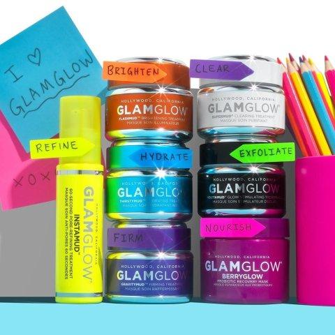 独家:Glamglow 发光面膜热卖 收黄罐急救面膜、蓝罐补水面膜