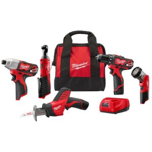 Milwaukee M12 12-Volt Lithium-Ion Cordless Combo Kit (5-Tool) with Two1.5Ah Batteries, Charger and Tool Bag