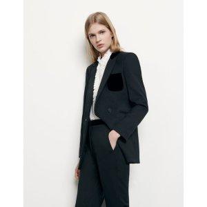 Sandro黑色西装外套