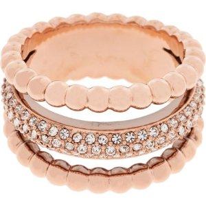 Swarovski玫瑰金水晶戒指 (晒货同款)