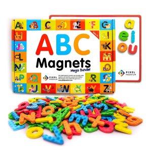 $15.99(原价$34.99)Pixel Premium 儿童趣味ABC字母磁铁套装,早教玩具