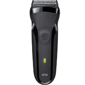 Braun Series 3 300s Rechargeable Electric Shaver, Black by Braun