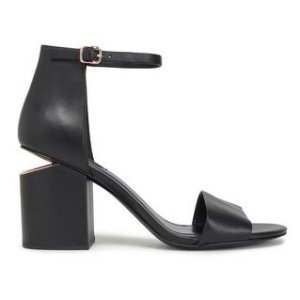 $285 Alexander Wang Abby Leather Sandals