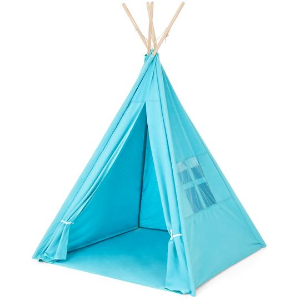 Best Choice Products 6ft Kids Pretend Cotton Teepee Play Tent w/ Mesh Window, Carrying Case