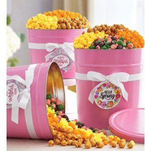 Pop Of Pink Popcorn Tins from 1-800-FLOWERS.COM