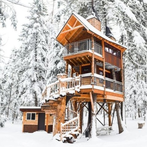 As low as $399Montana Luxury Montana Treehouse Retreat
