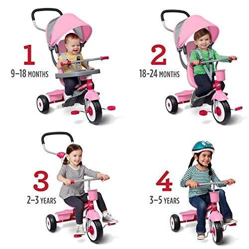 4-合-1 儿童三轮车