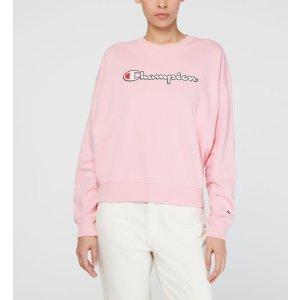 Champion粉色logo长袖