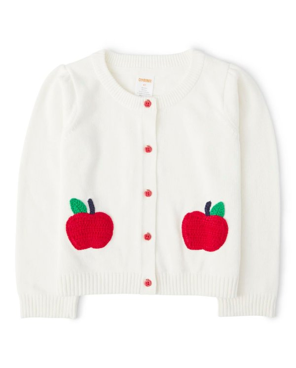 女童苹果开衫