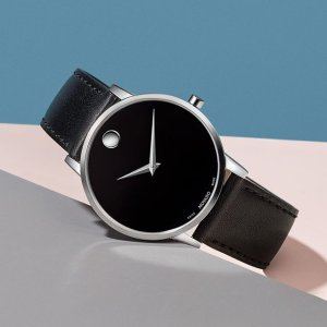 Dealmoon Exclusive:Movado Museum Classic 40mm Black Dial Men's Watch