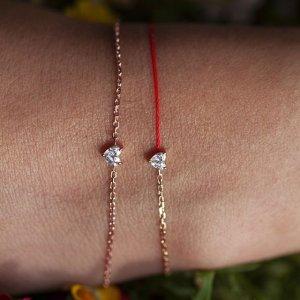 定价优势 $620收玫瑰金带钻小红绳Redline 精致小红绳 带来幸运的红绳 本命年、送礼首选