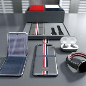 实物图抢先看 成就潮流商务范儿Samsung x Thom Browne 联名折叠手机 Galaxy Z Flip 即将发售