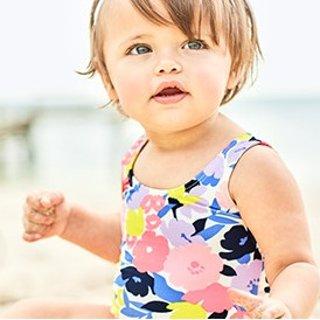 3.2折起+满$25送$10+免邮即将截止:Carter's童装官网 新品泳装多买多省热卖,防晒面料更安心