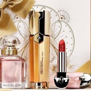 低至$22 + 送价值$63好礼独家:Guerlain 全场护肤美妆热卖 收复原蜜 n17口红