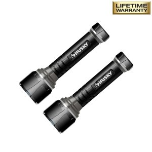 Husky 500 Lumens LED Virtually Unbreakable Aluminum Flashlight (2-Pack)