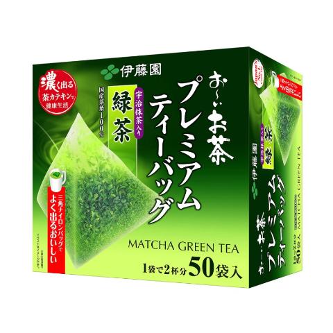 仅€0.42/包 无糖配方ITOEN 日本伊藤园 宇治抹茶绿茶 三角立体茶 一盒50包