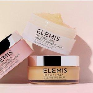 无门槛7.5折! £25收三重酵素洁面Elemis 夏季大促 骨胶原面霜、卸妆膏、玫瑰喷雾