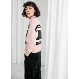 storiesStriped Mock Neck Sweater - Beige - Sweaters - & Other Stories