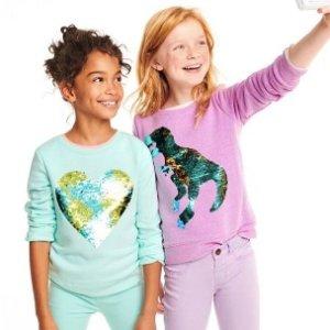低至5折+额外8折 0-14岁儿童都有卡特家姐妹店OshKosh BGosh 新装上市折上折