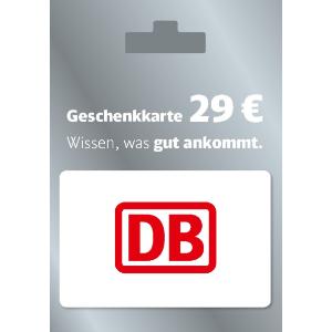 购买火车票 Bahncard 均可使用下周 REWE 门店将发售DB超值礼品卡 仅€24就能入手价值€29代金券