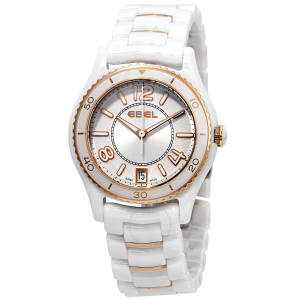Extra $1000 OffEBEL X-1 Silver Dial White Ceramic Ladies Watch