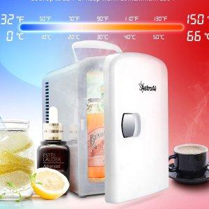 $49.97包邮(原价$79.99)AstroAI 迷你小冰箱 4升保冷保热 护肤品\母乳\药品存放