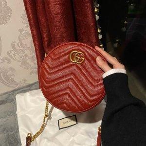 GucciGG Marmont 圆饼包