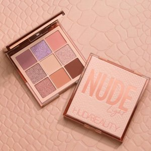 全线8.5折 €26收马卡龙9色盘Huda Beauty 高质彩妆热促 收网红水逆盘、迷你Nude九宫格