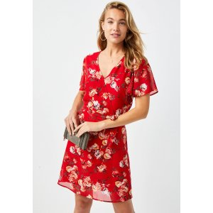 mauricesBuy One Get One 75% offRed Floral Wrap Skater Dress