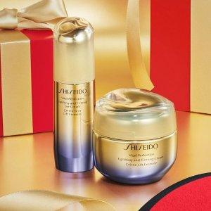 无门槛8折+最高送礼品6件Shiseido 套装超值优惠 收悦薇系列套 紧致亮白提升