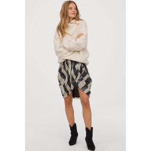 翻领羊毛毛衣