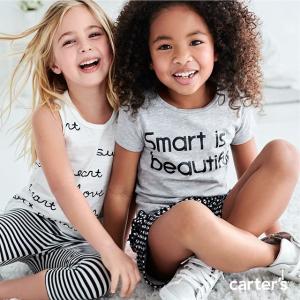 低至3.4折+额外9折 $4.5起限今天:Carter's 大童美衣 创意迪士尼合作款 会变色的米妮