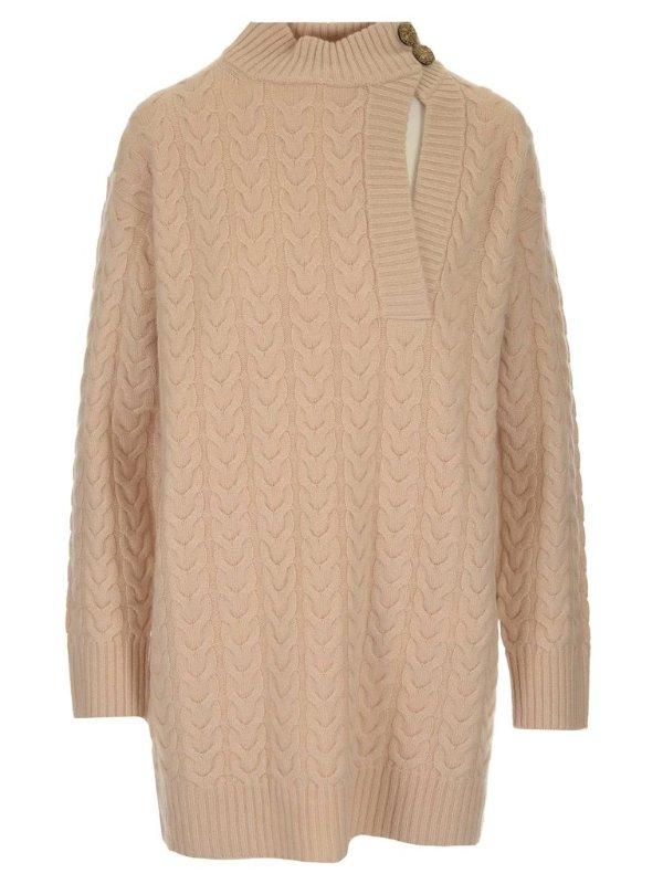 High-Neck 高领毛衣裙