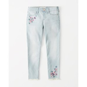 ff704904d Abercrombie & Fitchgirls embroidered pull-on ankle jean leggings | girls  outfit sale | Abercrombie
