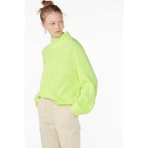 Monki荧光绿毛衣