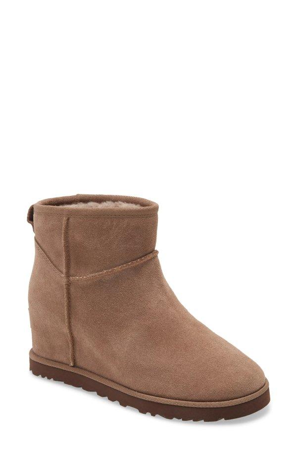 坡跟雪地靴