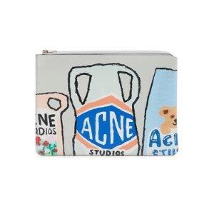 Acne Studios涂鸦手拿包