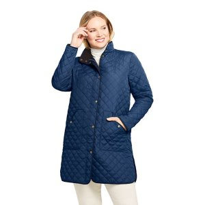 Lands' EndWomen's Plus Size Insulated Quilted Barn Coat