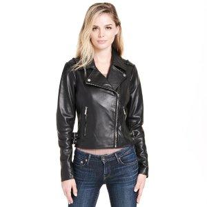 Wilsons LeatherWeb Buster Asymmetrical Leather Jacket w/ Side Belts