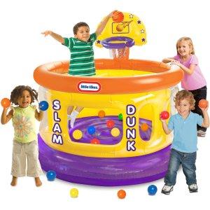 Little Tikes带投篮框 儿童充气屋