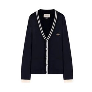 GucciCardigan wool knit with bee