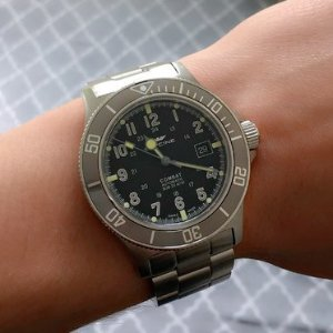 $429GLYCINE  Combat Sub Automatic Black Dial Men's Watch GL0076