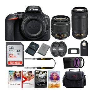 $596.95 無稅 帶濾鏡相機包的超級套裝Nikon D5600 數碼單反相機 帶18-55mm和70-300mm鏡頭