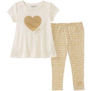 $7.31起Juicy Couture女小童短袖T恤+legging套装