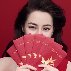 6种礼品价值高达£54!闪购:Clarins官网 送礼季来袭 各年龄层针对性超值礼包别错过