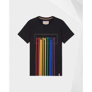 Hunter彩虹条T恤
