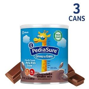 低至额外8折+9.5折+包邮PediaSure 雅培小安素助成长营养乳饮400克/罐,两种口味