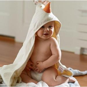 $15.96(原价$19.99)3 Sprouts 宝宝连帽浴巾-3款可选,有机棉哦~