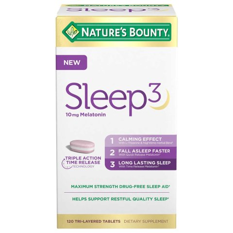Bounty Sleep3 10mg. Melatonin, 120 Tablets