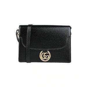 Gucci黑色logo单肩包